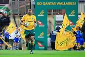 9th September 2017, nib Stadium, Perth, Australia; Supersport Rugby Championship, Australia versus South Africa; Sekope Kepu of the Australian Wallabies runs out for the start of the game against the Springboks