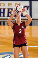 20 November 2008:  UALR setter Guiliana De Francesco (3) sets up a shot during the New Orleans 3-1 victory over UALR in the first round of the Sun Belt Conference Championship tournament at FIU Stadium in Miami, Florida.