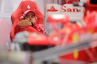 HOCKENHEIM, ALEMANHA, 20 JULHO 2012 - FORMULA 1 - GP DA ALEMANHA -   O piloto brasileiro Felipe Massa da equipe Ferrari durante o primeiro dia de treinos livres no circuito de Hockenheim nesta sexta-feira, 20. Domingo acontece a 10 etapa da F1 no GP da Alemanha. (FOTO: PIXATHLON / BRAZIL PHOTO PRESS).