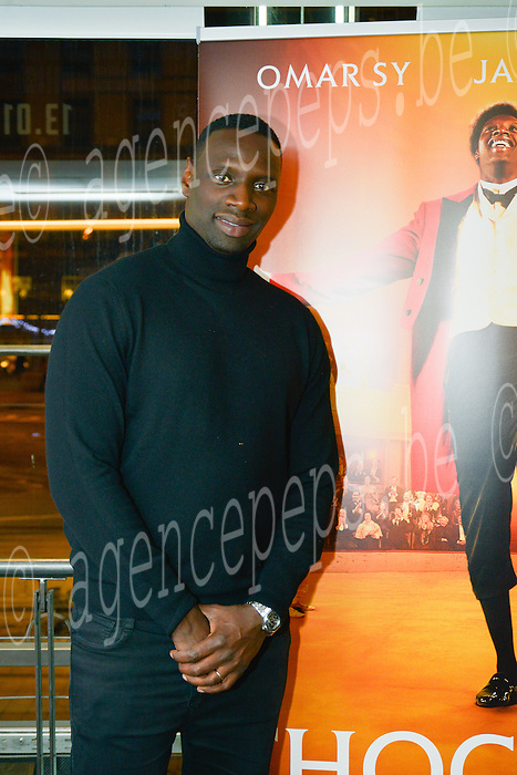 EXCLU - Omar Sy french actor and Roschdy Zem french actor and realisator during the first movie of Chocolat. Brussels, 13 januari 2016, Belgium