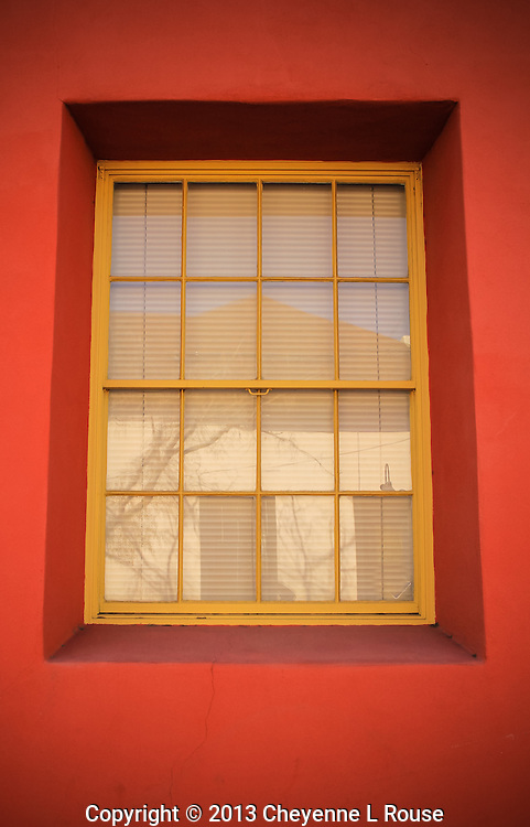 Coral Adobe and Yellow window - Arizona