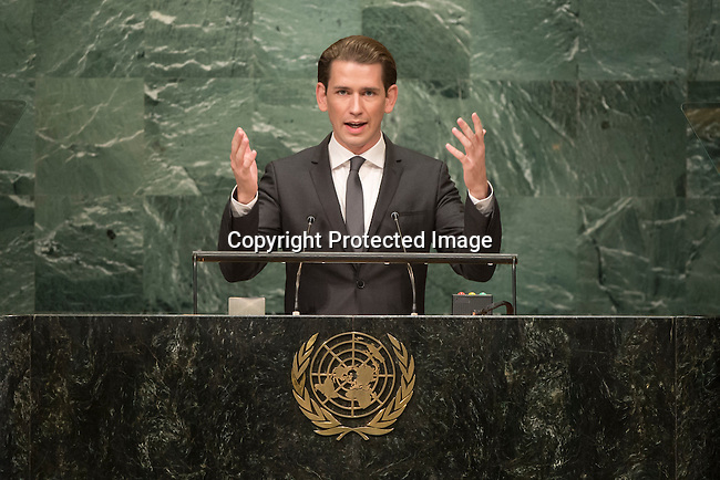 Austria<br /> H.E. Mr. Sebastian Kurz<br /> Federal Minister for Europe, Integration and Foreign Affairs<br /> <br /> General Assembly Seventy-first session 10th plenary meeting<br /> General Debate