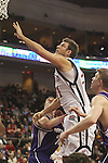 LAS VEGAS, NV - MARCH 7:  Ben Allen during the Saint Mary's Gaels 69-55 win over the Portland Pilots in the WCC Basketball Tournament on March 7, 2010 at Orleans Arena in Las Vegas Nevada.