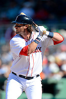 Boston Red Sox catcher Jarrod Saltalamacchia #39 during a Spring Training game against the Miami Marlins at JetBlue Park on March 27, 2013 in Fort Myers, Florida.  Miami defeated Boston 5-1.  (Mike Janes/Four Seam Images)