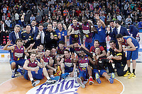 FC Barcelona Regal's team celebrate the victory in the Spanish Basketball King's Cup Final match.February 07,2013. (ALTERPHOTOS/Acero)