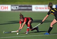 Capital v Canterbury women. 2019 National Hockey Under-18 Tournament at National Hockey Stadium in Wellington, New Zealand on Thursday, 11 July 2019. Photo: Dave Lintott / lintottphoto.co.nz