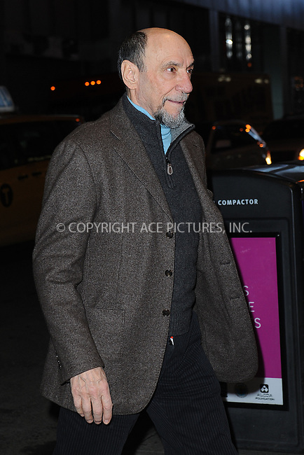 WWW.ACEPIXS.COM <br /> January 6, 2014 New York City<br /> <br /> F. Murray Abraham attends the 2013 New York Film Critics Circle Awards Ceremony at The Edison Ballroom on January 6, 2014 in New York City. <br /> <br /> <br /> Please byline: Kristin Callahan  <br /> <br /> ACEPIXS.COM<br /> Ace Pictures, Inc<br /> tel: (212) 243 8787 or (646) 769 0430<br /> e-mail: info@acepixs.com<br /> web: http://www.acepixs.com