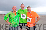 Eoin O'Hanlon, Gerard Wilson, Brian Henry at the The Brandon Bay half marathon and 10k run, Ireland's first and only running event entirely run on a beach,  in the Maharees, Castlegregory,  on Saturday