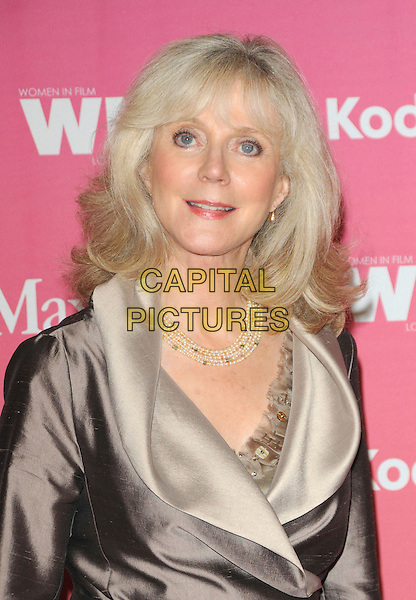BLYTHE DANNER .at The Women in Film 2009 Crystal .and Lucy Awards held at The Hyatt Regency Century Plaza in Century City, California, USA, June 12th 2009                                                                     .portrait headshot brown jacket grey gray pearl necklace collar .CAP/DVS.©DVS/RockinExposures/Capital Pictures