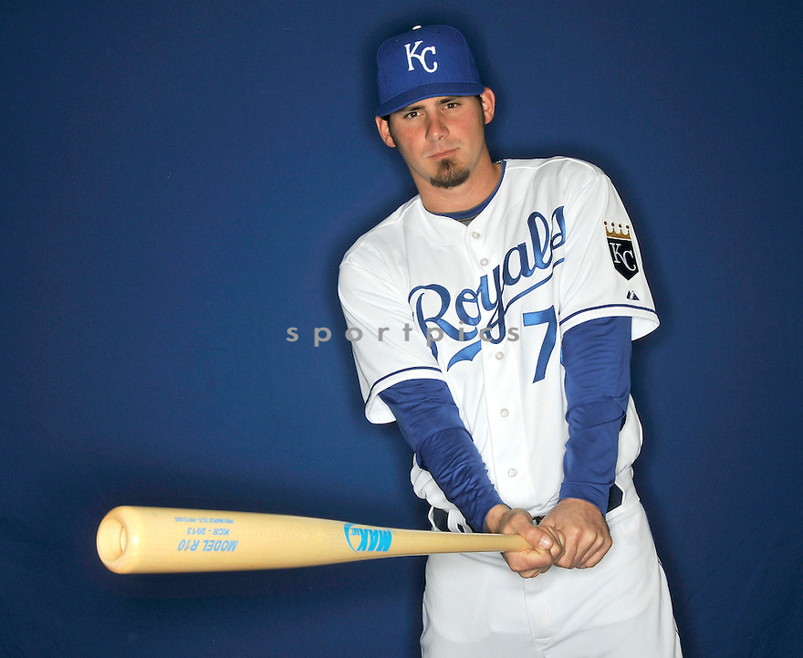 Kansas City Royals Brandon Wood (70) during media photo day on February 21, 2013 at spring training in Surprise, AZ.