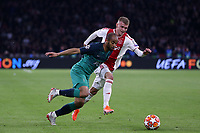 Daley Sinkgraven of Ajax and Lucas of Tottenham Hotspur during AFC Ajax vs Tottenham Hotspur, UEFA Champions League Football at the Johan Cruyff Arena on 8th May 2019
