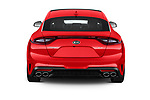 Straight rear view of a 2018 KIA Stinger GT 5 Door Hatchback stock images
