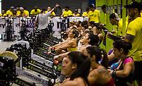 """RIO DE JANEIRO, RJ, 12.11.2016 - MONSTAR SERIES-RJ - Atleta competindo durante evento fitness na Arena Rio-Centro, zona oeste do Rio de Janeiro, neste sábado (12). O Monstar Series é o maior evento de crossfit da América Latina. Atualmente, um dos maiores segmentos fitness do Brasil. O Rio, que conta com inúmeros boxes e """"crossfiters"""", foi escolhido para sediar a última etapa do Monstar Series 2016. (Foto: Jayson Braga / Brazil Photo Press)"""