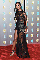 Maya Jama<br /> arriving for the BAFTA Film Awards 2019 at the Royal Albert Hall, London<br /> <br /> ©Ash Knotek  D3478  10/02/2019