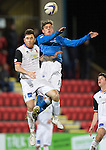 St Johnstone v Inverness Caledonian Thistle...20.12.14   SPFL<br /> Murray Davidson gets above Greg Tansey<br /> Picture by Graeme Hart.<br /> Copyright Perthshire Picture Agency<br /> Tel: 01738 623350  Mobile: 07990 594431