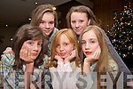 Performing at the Fiona Crowley stage school Christmas Showcase in the Malton Hotel on Monday night were Aileen O'Leary, Kristen Connolly, Nicole Moriarty, Edale Myers and Ciara O'Shea.