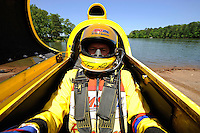 3-4 May 2008, Pickwick,TN USA.Terry Rinker in the cockpit of his AeroSlot/Mercury..©2008 F.Peirce Williams