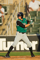 Ryan Lollis #22 of the Augusta GreenJackets at bat against the Kannapolis Intimidators at Fieldcrest Cannon Stadium June 24, 2010, in Kannapolis, North Carolina.  Photo by Brian Westerholt / Four Seam Images