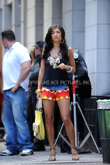 WWW.ACEPIXS.COM . . . . . ....July 9 2009, New York city....Actress Jessica Szohr on the set of the TV show Gossip Girl in Soho on July 9 2009 in New York City....Please byline: KRISTIN CALLAHAN - ACEPIXS.COM.. . . . . . ..Ace Pictures, Inc:  ..tel: (212) 243 8787 or (646) 769 0430..e-mail: info@acepixs.com..web: http://www.acepixs.com