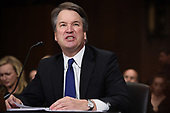 Supreme Court nominee Judge Brett Kavanaugh testifies before the US Senate Judiciary Committee on Capitol Hill in Washington, DC, September 27, 2018. <br /> Kavanaugh was to testify in front of the panel next on Thursday afternoon, having stridently rejected the allegations of sexual abuse by Blasey Ford and two other women in prepared remarks. / POOL / SAUL LOEB