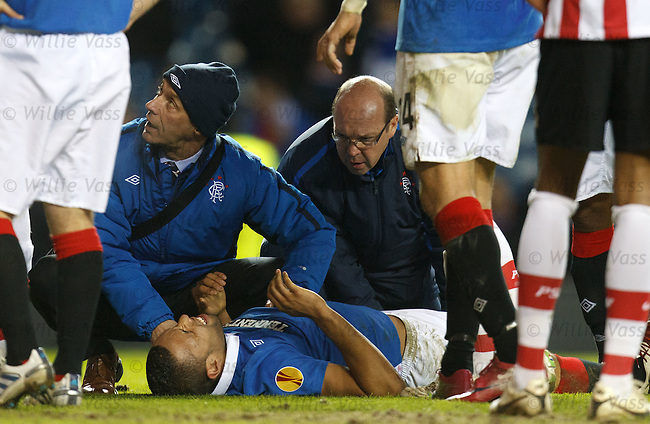 Kyle Bartley down injured