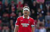 Captain Mathieu Baudry of Leyton Orient during the Sky Bet League 2 match between Leyton Orient and Wycombe Wanderers at the Matchroom Stadium, London, England on 19 September 2015. Photo by Andy Rowland.