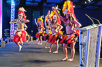 Hawaiian dancers at Nobel Biocare Sales Meeting