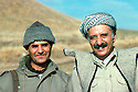Iran 1979.Abdul Rahman Ghassemlou and a former Kurdish officer of the Iranian army