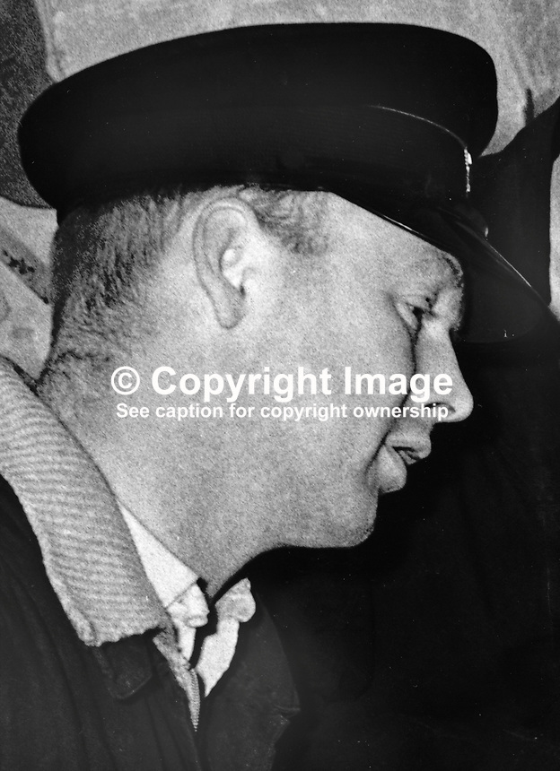 Fireman Leonard McCartney who died in blaze which completely destoyed the Melville Hotel, Foyle Street, Londonderry, N Ireland. 197111000467LMC<br />
