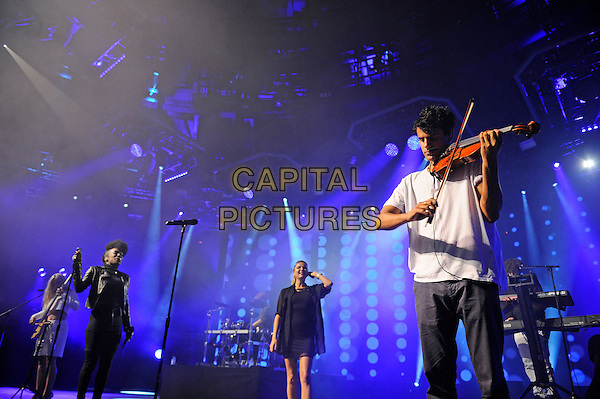 LONDON, ENGLAND - SEPTEMBER 3: Milan Neil Amin-Smith of Clean Bandit performing at the Camden Roundhouse as part of itunes Festival on September 3 in London, England.<br /> CAP/MAR<br /> &copy; Martin Harris/Capital Pictures