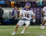 Zach Wolfe (#16) attacks as UAlbany Men's Lacrosse defeats Richmond 18-9 on May 12 at Casey Stadium in the NCAA tournament first round.