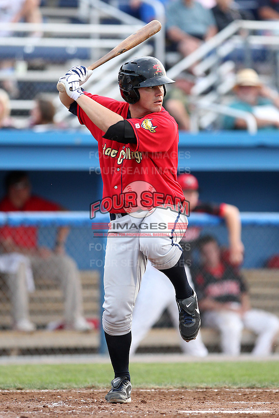 State College Spikes first baseman Billy Nowlin #39 during a game against the Batavia Muckdogs at Dwyer Stadium on July 7, 2011 in Batavia, New York.  Batavia defeated State College 16-3.  (Mike Janes/Four Seam Images)