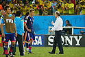 (L to R) <br /> Keisuke Honda, <br />   Alberto Zaccheroni (JPN), <br /> JUNE 24, 2014 - Football /Soccer : <br /> 2014 FIFA World Cup Brazil <br /> Group Match -Group C- <br /> between Japan 1-4 Colombia <br /> at Arena Pantanal, Cuiaba, Brazil. <br /> (Photo by YUTAKA/AFLO SPORT)