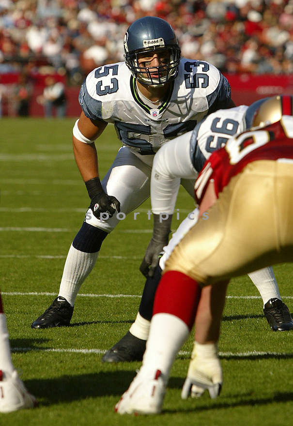 Niko Koutouvides during the Seattle Seahavks v. San Francisco 49ers game on November 7, 2004...Seattle wins 42-27..Rob Holt / SportPics