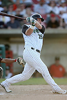 May 25, 2008: Greg Dowling (28) of the Kane County Cougars at bat against the Quad Cities River Bandits at Elfstrom Stadium in Geneva, IL. Photo by: Chris Proctor/Four Seam Images