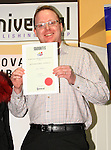 Ian Watters, runner up in the Adult Short Stories, holds his certificate proudly..Picture: Shane Maguire / www.newsfile.ie.