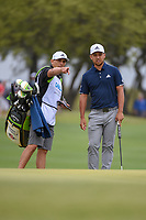 Xander Schauffele (USA) looks over his long putt on 1 during day 3 of the WGC Dell Match Play, at the Austin Country Club, Austin, Texas, USA. 3/29/2019.<br /> Picture: Golffile | Ken Murray<br /> <br /> <br /> All photo usage must carry mandatory copyright credit (© Golffile | Ken Murray)