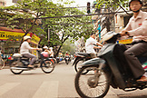 VIETNAM, Hanoi, view across a busy intersection in the old quarter of Hanoi