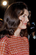 May 15th, 1974, Washington DC: Jacqueline Kennedy Onassis at the fund raising dinner held by The Democratic Study Group in honour of Governor W. Averell Harriman at the Sheraton Park Hotel in Washington. She was one of the special guests at the event.