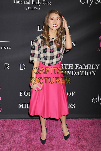 SANTA MONICA, CA- OCTOBER 18: Actress Brenda Song attends Elyse Walker presents the 10th anniversary Pink Party hosted by Jennifer Garner and Rachel Zoe at HANGAR 8 on October 18, 2014 in Santa Monica, California.<br /> CAP/ROT/TM<br /> &copy;Tony Michaels/Roth Stock/Capital Pictures