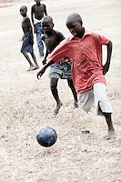 Playing soccer at an orphanage in South Sudan