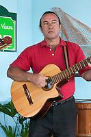 Cuba, Cienfuegos.  Cuban Guitar Player.