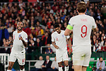 England's Raheem Sterling (L) and Harry Kane (R) celebrate goal during UEFA Nations League 2019 match between Spain and England at Benito Villamarin stadium in Sevilla, Spain. October 15, 2018. (ALTERPHOTOS/A. Perez Meca)