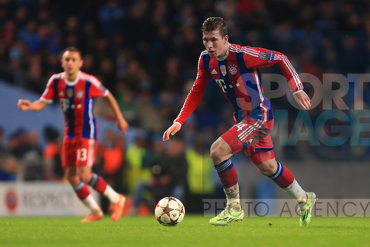 Pierre Hojbjerg of Munich - Manchester City vs. Bayern Munich - UEFA Champion's League - Etihad Stadium - Manchester - 25/11/2014 Pic Philip Oldham/Sportimage