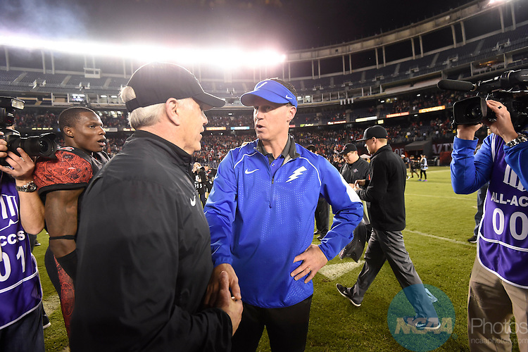 05 DEC 2015:  The 2015 Sports Authority Mountain West Football Championship Game between the Air Force Academy and San Diego State University takes place at Qualcomm Stadium in San Diego, CA. Jamie Schwaberow/NCAA Photos