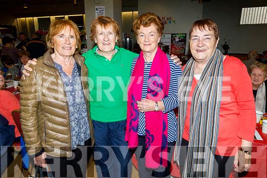 Maureen Guerin, Kit Ryan, Poppy Creegan and Patsy O'Shea enjoying the Boherbee/John Mitchels Active retired Christmas Party in John Mitchels on Saturday.