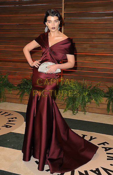 WEST HOLLYWOOD, CA - MARCH 2: Crystal Renn arrives at the 2014 Vanity Fair Oscar Party in West Hollywood, California on March 2, 2014.  <br /> CAP/MPI/MPI213<br /> &copy;MPI213/MediaPunch/Capital Pictures