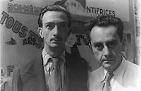Paris, FRANCE - 1934 June 16. - File Photo -<br /> Portrait of Man Ray (R) and Salvador Dali (L), Paris]