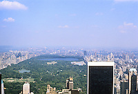 New York City: Central Park from RCA Building roof.