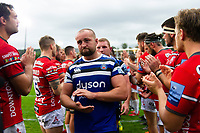 Tom Dunn of Bath Rugby looks on after the match. Gallagher Premiership match, between Bath Rugby and Gloucester Rugby on September 8, 2018 at the Recreation Ground in Bath, England. Photo by: Patrick Khachfe / Onside Images